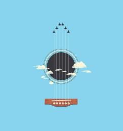 illustration minimalism guitar musical instrument logo cartoon product plucked string instruments string instrument diagram acoustic guitar [ 2160 x 1920 Pixel ]