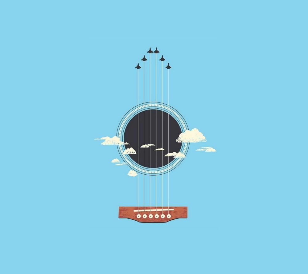 medium resolution of illustration minimalism guitar musical instrument logo cartoon product plucked string instruments string instrument diagram acoustic guitar