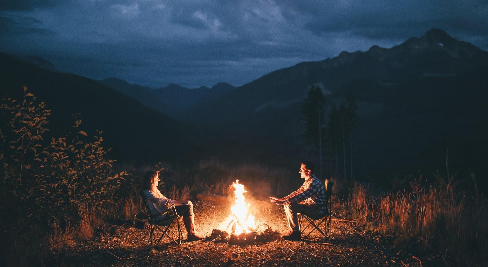Cozy Fall Hd Wallpaper Wallpaper Landscape Evening Wilderness Campfire