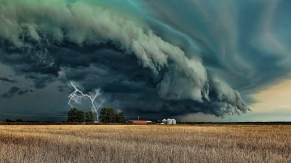 Wallpaper Landscape Nature Field Clouds Lightning Storm Farm Wind