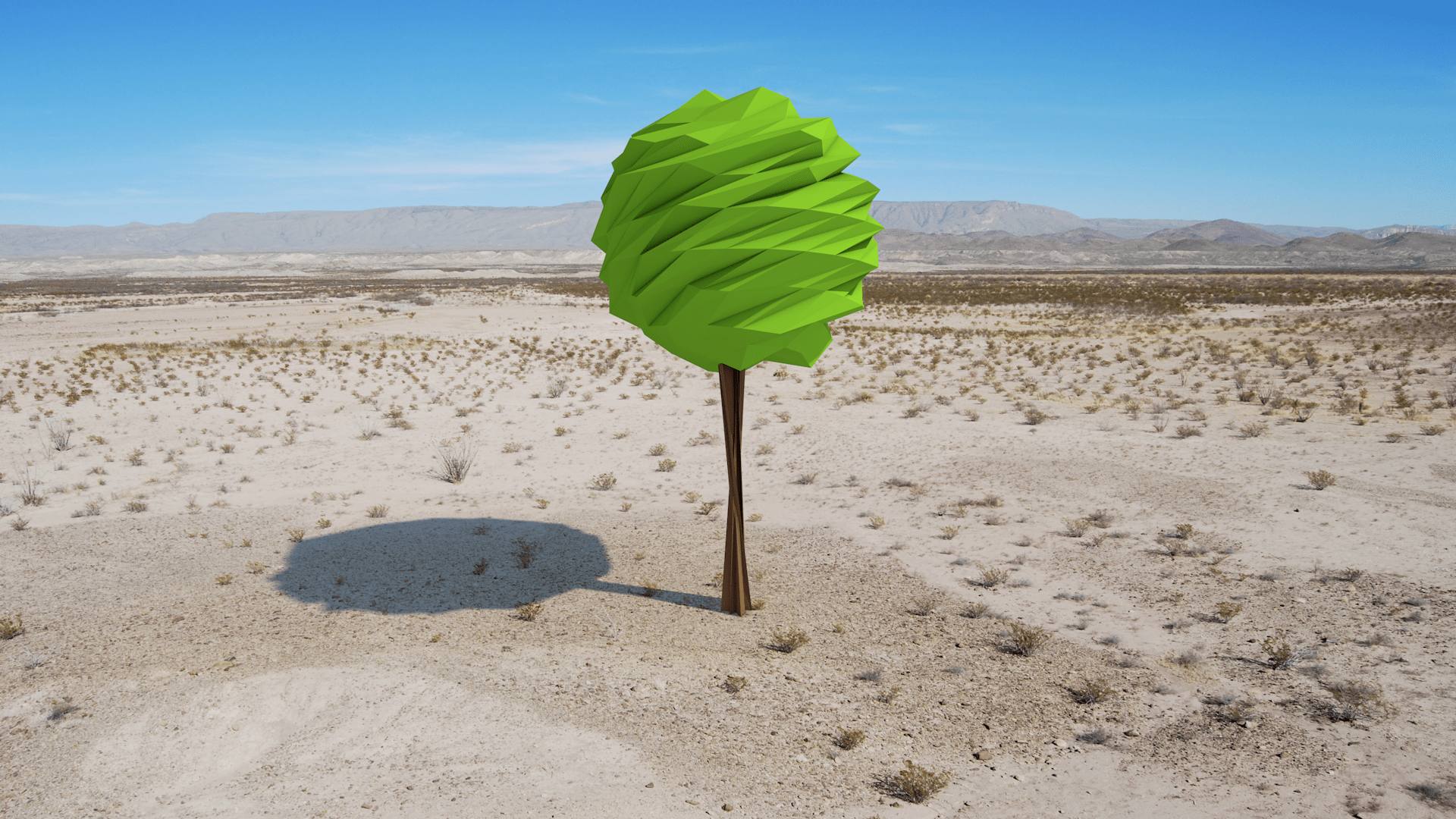 Wallpaper Landscape Sand Low Poly Desert Valley