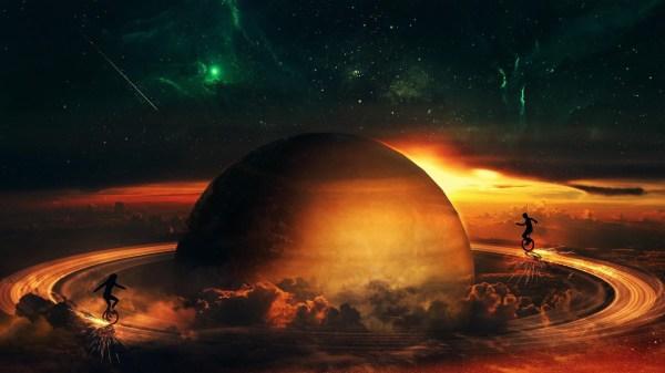 Space Planet Saturn Desktop Background