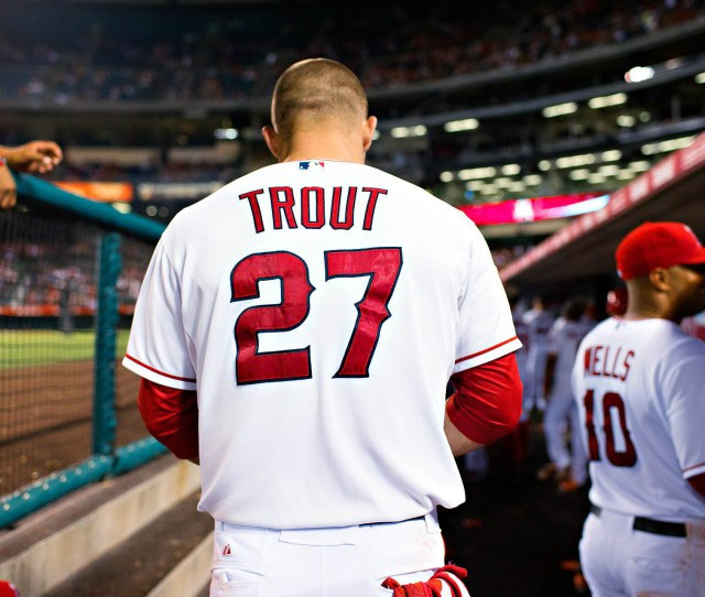 Mike Trout Baseball Los Angeles Angels Of Anaheim