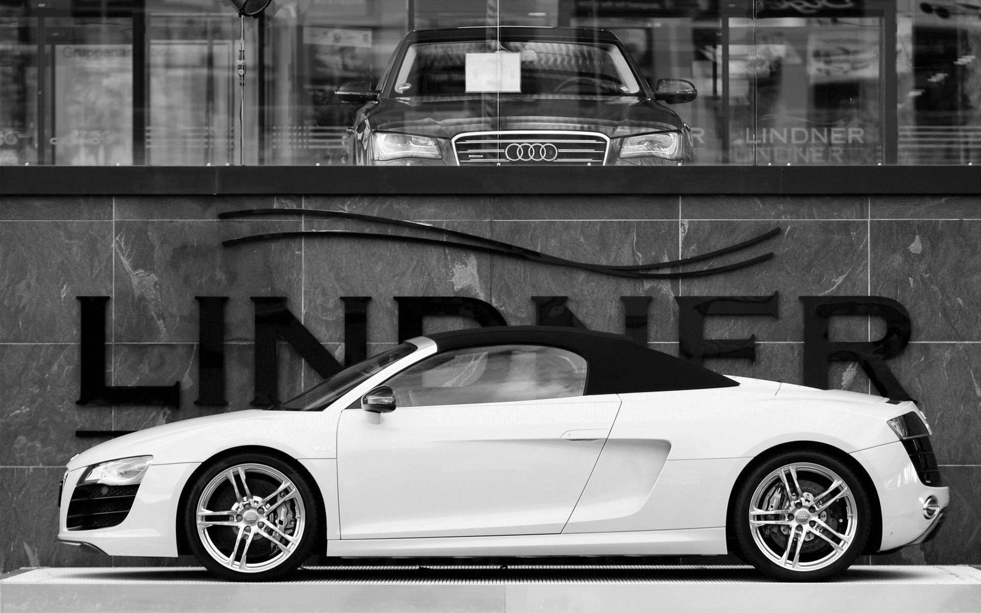 Wallpaper Monochrome Sports Car Audi R8 Coupe Audi R8 Spyder