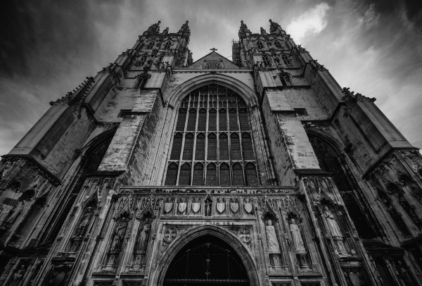 Black and White Gothic Architecture