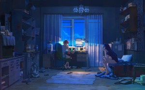 anime night stage rooms interior living theatre summer darkness scenographer everlasting musical screenshot wallhere wallpapers