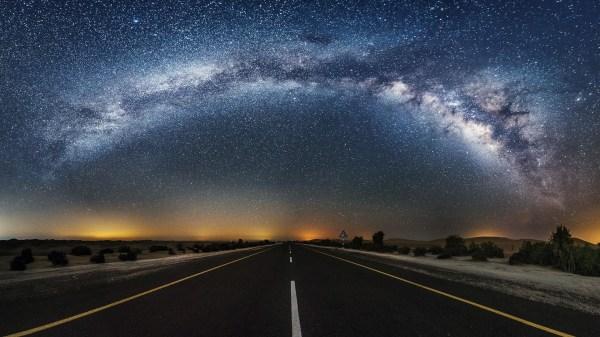 Wallpaper Night Galaxy Road Stars Milky Desert Atmosphere Darkness Astronomical