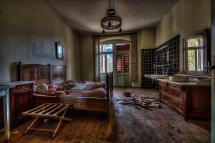 Dark Abandoned Hotel Room