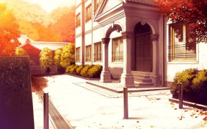 drawing anime street morning landscape wallpapers autumn night interior evening lighting road urban architecture background scenery wallhaven arches mau akizora
