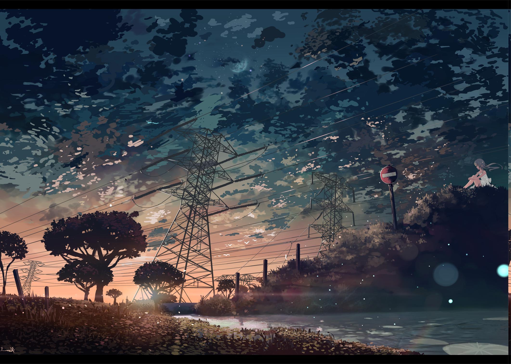 Mrsuicidesheep Wallpaper Fall Sfondi Luce Del Sole Paesaggio Tramonto Notte Anime