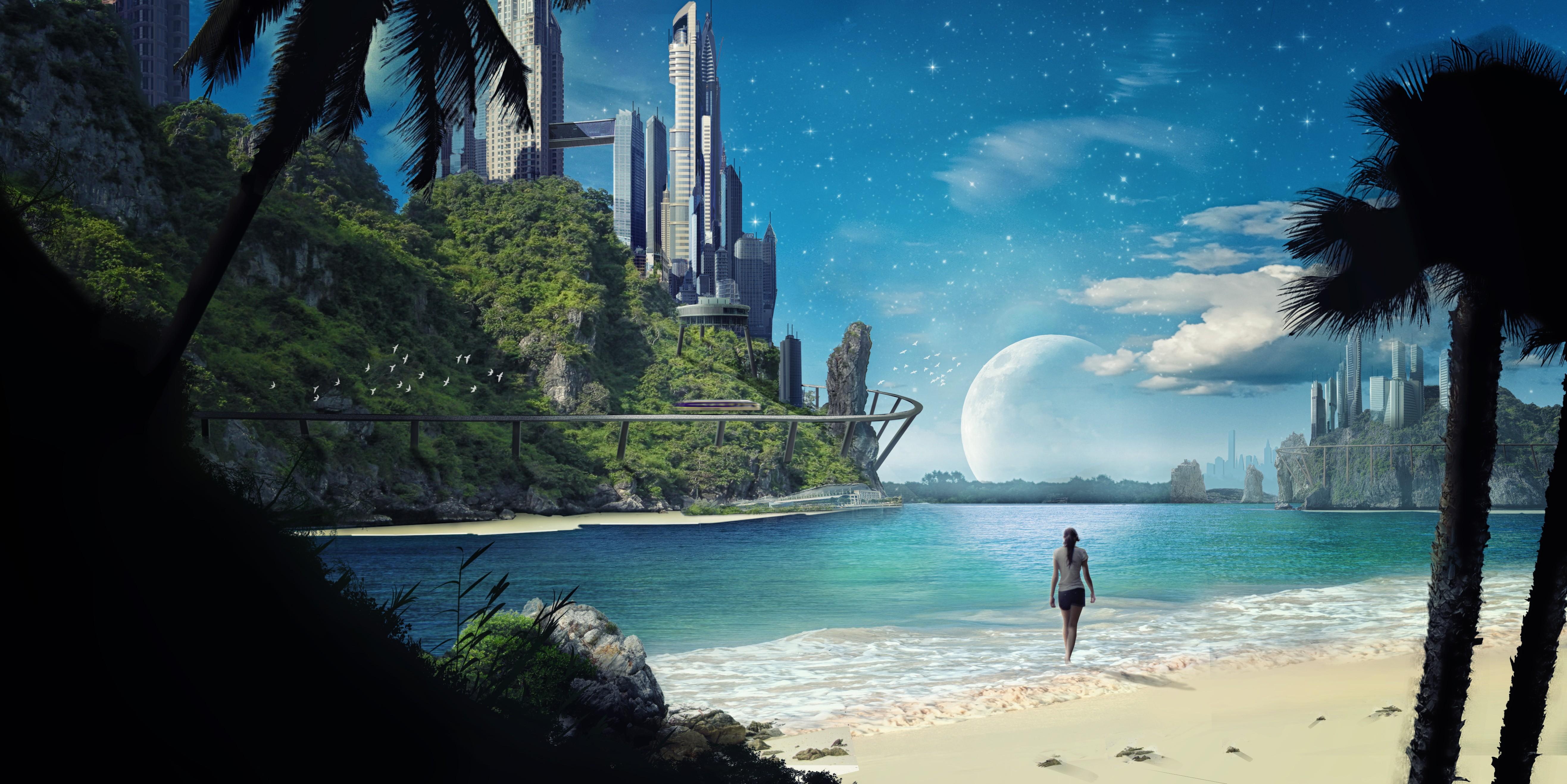 Fall Scene Desktop Wallpaper Wallpaper Sunlight Sea Bay Space Reflection