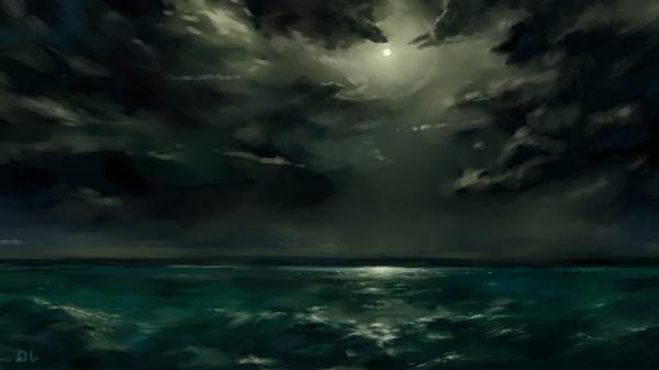 Digital Art Night Clouds