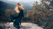Woman Model Outdoors Nature