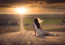 Wallpaper Sunlight Women Depth Of Field Sunset Sea