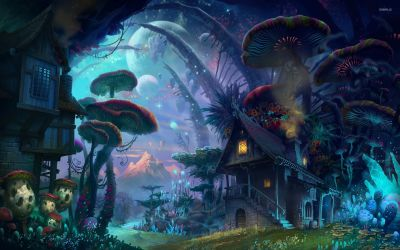 mushroom trippy mushrooms fantasy magic psychedelic wallpapers hd wallhere