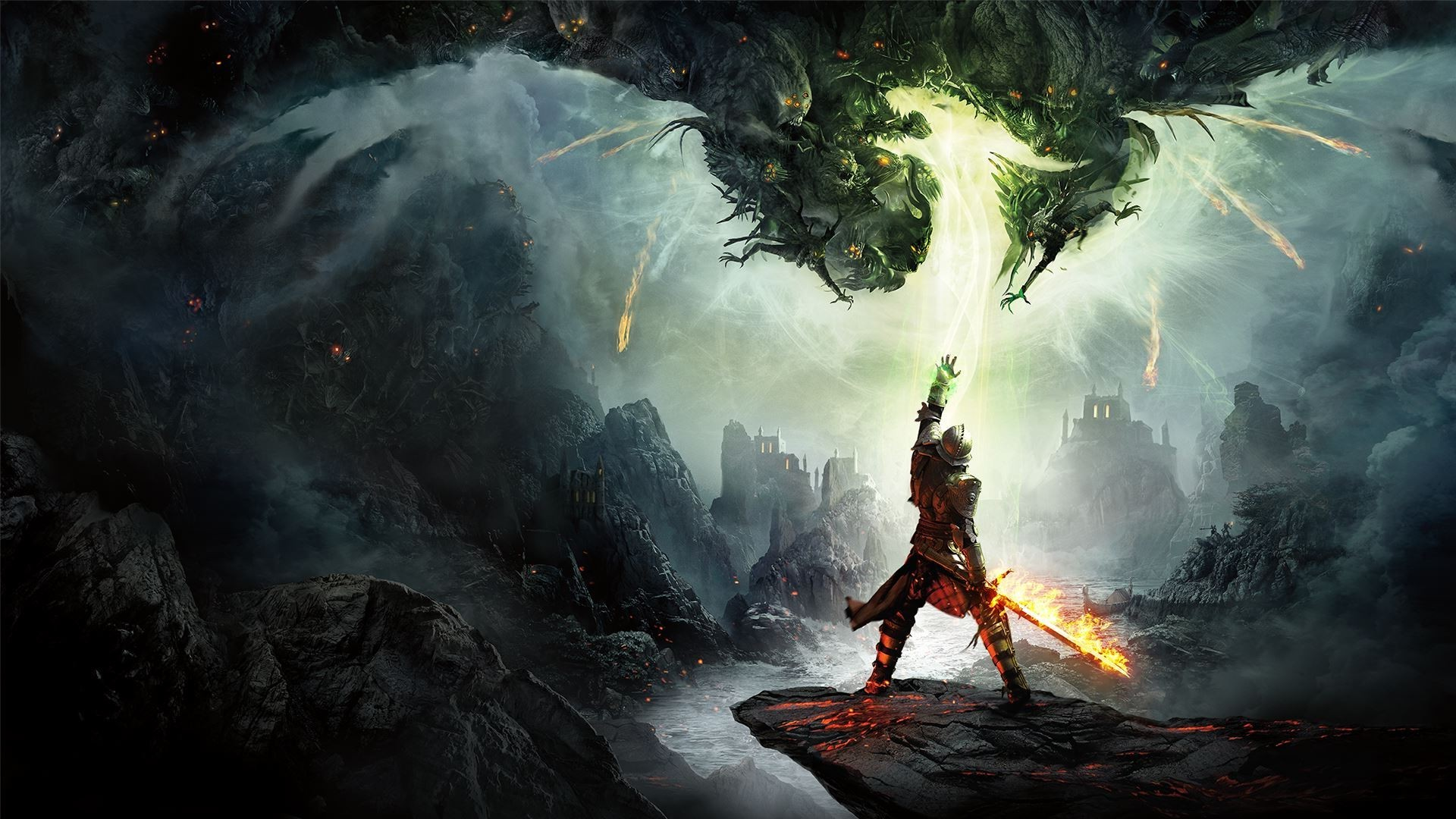 Fall Wallpaper With Owls Wallpaper Video Games Fantasy Art Fire Dragon Age