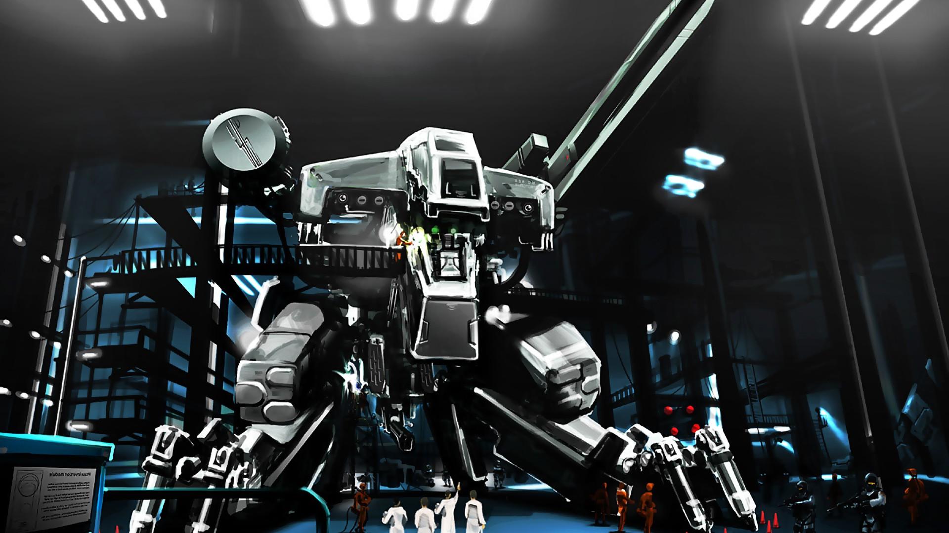 wallpaper : video games, fantasy art, robot, artwork, music, mech