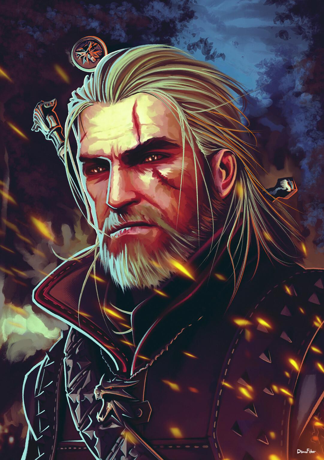 Geralt Of Rivia Hair : geralt, rivia, Wallpaper, White, Hair,, Witcher,, Wolf,, Witcher, Hunt,, Geralt, Rivia,, Digital, Video, Games, 1081x1536, Wolfieee, 1929735, Wallpapers, WallHere