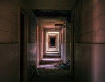 Wallpaper Window Dark City Creepy Urban Abandoned