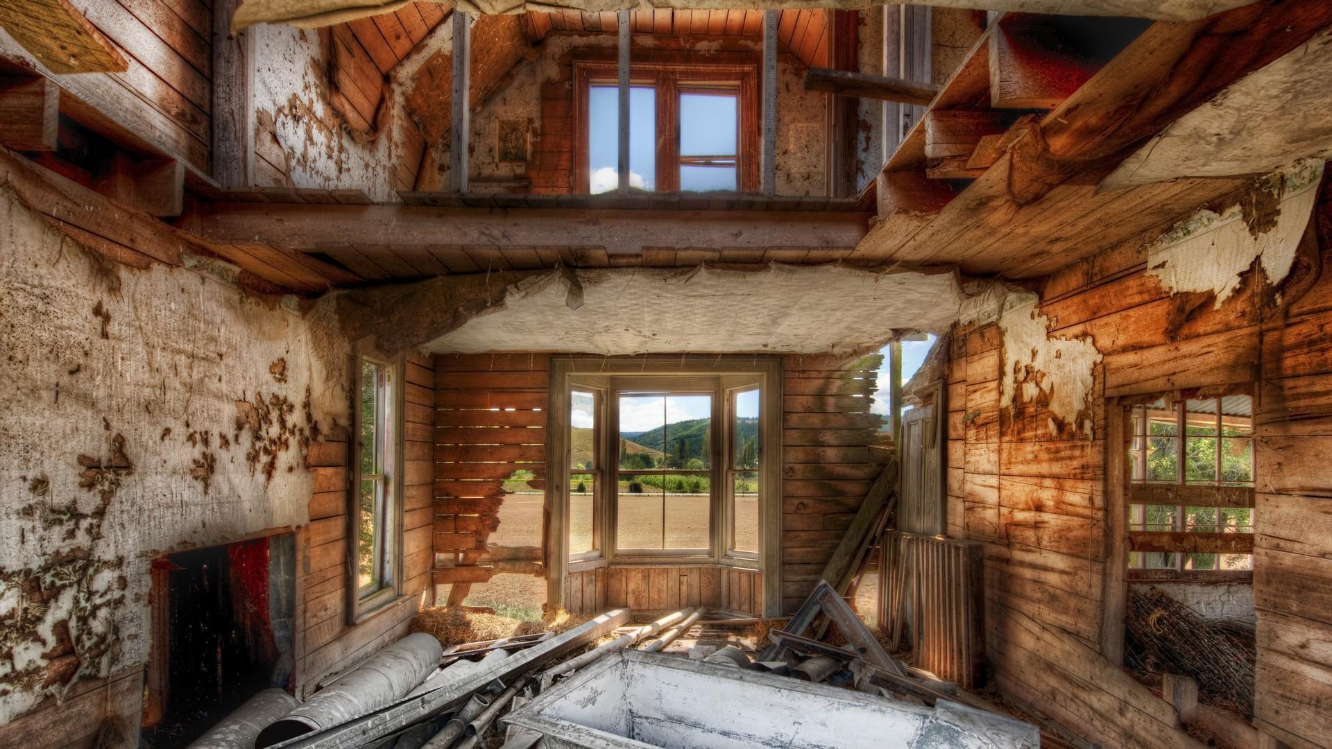Wallpaper Window Room Wood House Indoors HDR
