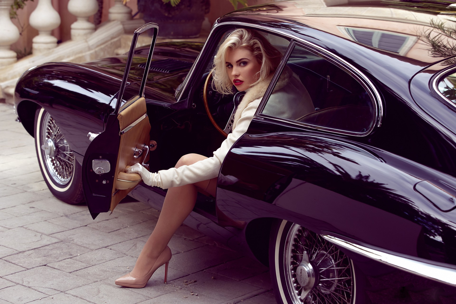 wallpaper blonde high heels