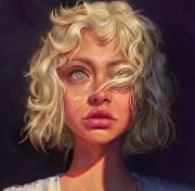 wallpaper women blonde curly