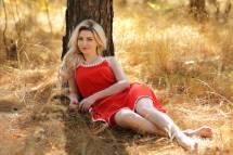 Wallpaper Blonde Face Women Outdoors Forest Smirk