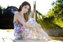 Woman Barefoot Dress
