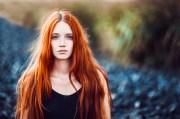 wallpaper women redhead model