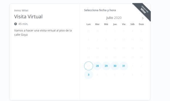 reserva tus videoconferencias con la app de citas de witei