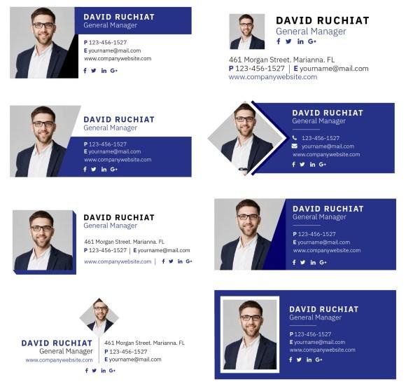 ejemplos de diseño de firmas de correos profesionales