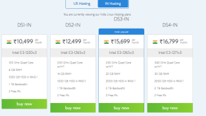 BlueHost India Dedicated Hosting plans