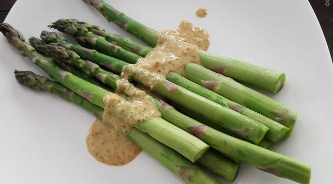 Asparagus with Lemon Tarragon Sauce