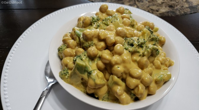 Cheezy Chickpeas-n-Broccoli
