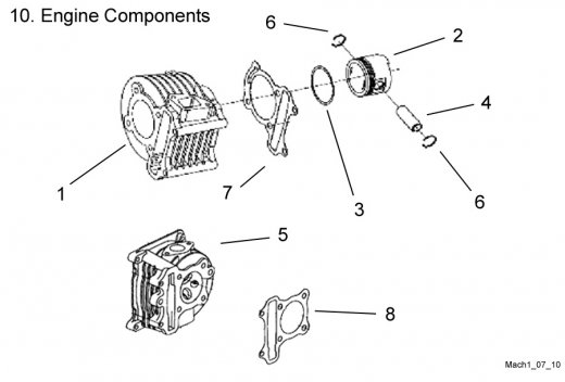 Engine Components : Get 2 It Parts, LLC, ATV, Scooter, Go