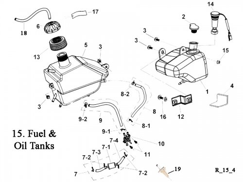 Fuel Tank and Oil Tank : Get 2 It Parts, LLC, ATV, Scooter