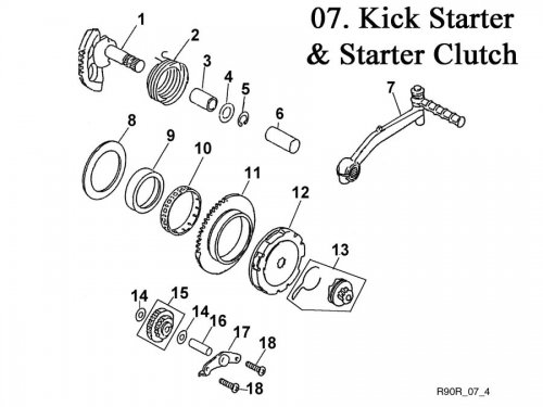 Kick Starter and Starter Clutch : Get 2 It Parts, LLC, ATV