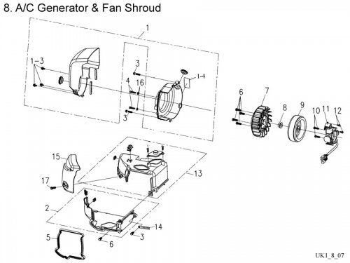 A/C Generator & Fan Shroud : Get 2 It Parts, LLC, ATV