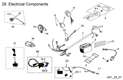 Electrical Components : Get 2 It Parts, LLC, ATV, Scooter