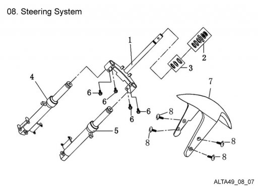 Steering System : Get 2 It Parts, LLC, ATV, Scooter, Go