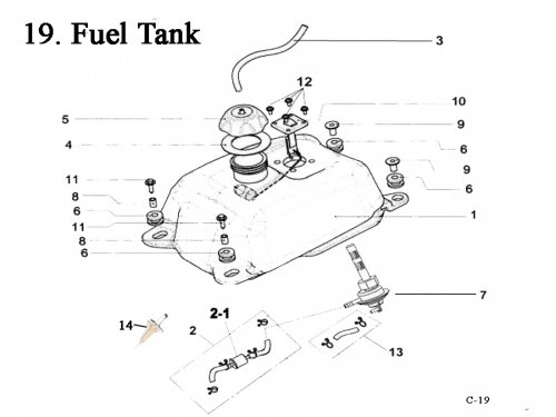 Fuel Tank : Get 2 It Parts, LLC, ATV, Scooter, Go Kart
