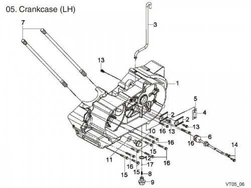 Crankcase LH : Get 2 It Parts, LLC, ATV, Scooter, Go Kart
