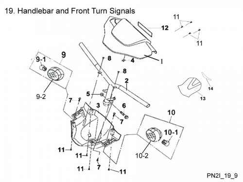 Handlebar and Front Turn Signals : Get 2 It Parts, LLC