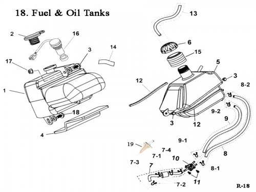 Fuel and Oil Tanks : Get 2 It Parts, LLC, ATV, Scooter, Go