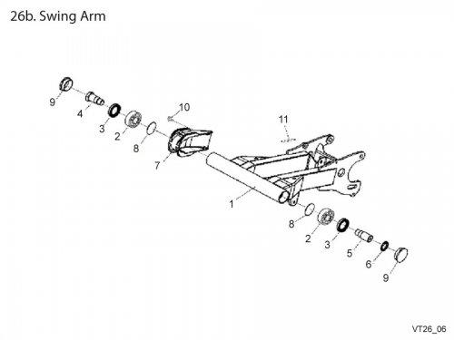 Swing Arm : Get 2 It Parts, LLC, ATV, Scooter, Go Kart