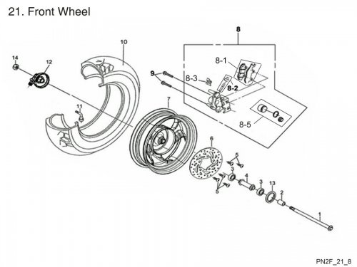 Front Wheel : Get 2 It Parts, LLC, ATV, Scooter, Go Kart
