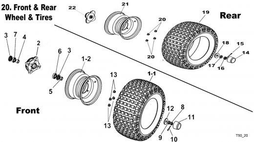 Wheels, Tires, Rims, Hubs Wheel Bearings and Seals Fits