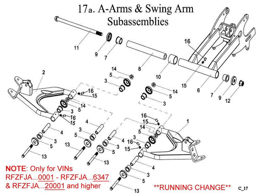 A Arms Swing Arm Bushing Bolt (A) E-Ton(Eton) Yukon YXL