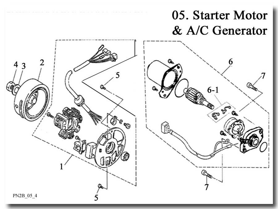 Stator AC Generator Flywheel Electric Starter Motor E-Ton