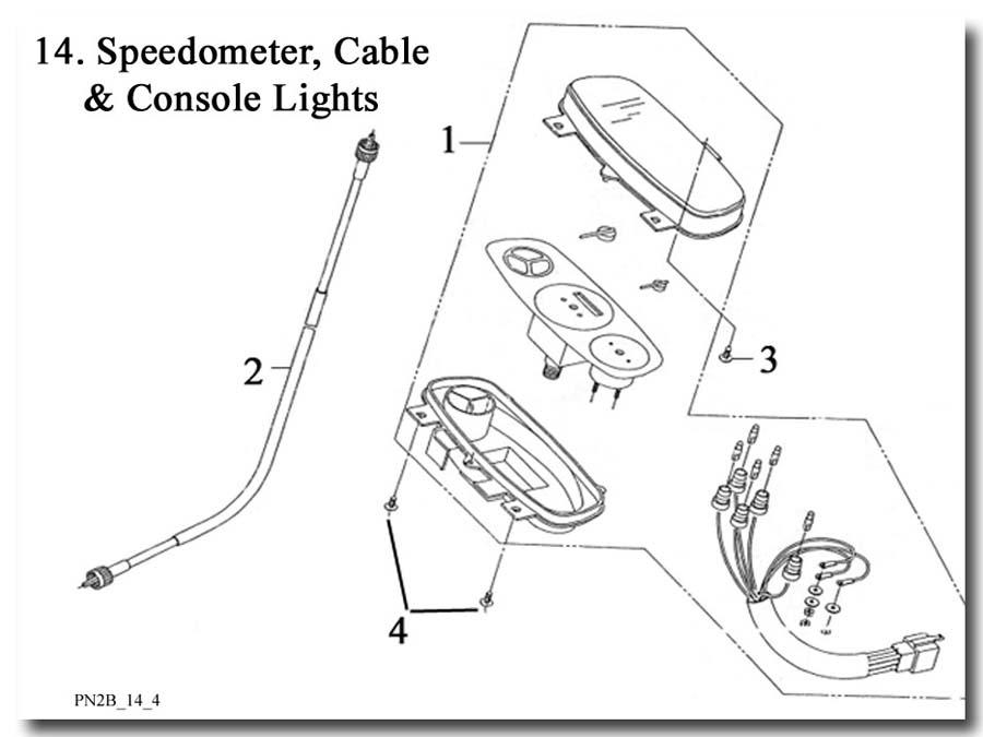 Speedometer Cable Instrument Panel E-Ton(Eton)Beamer